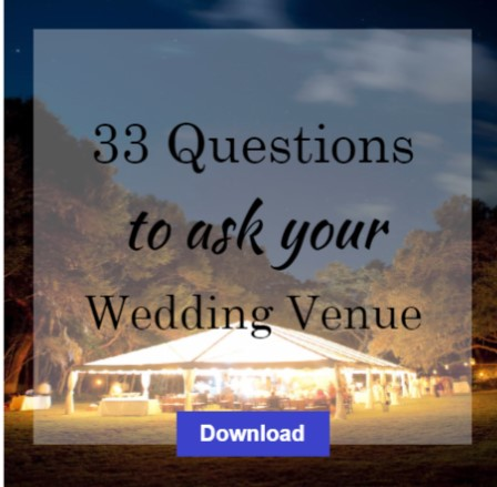 32 Questions to ask before you book your wedding venue