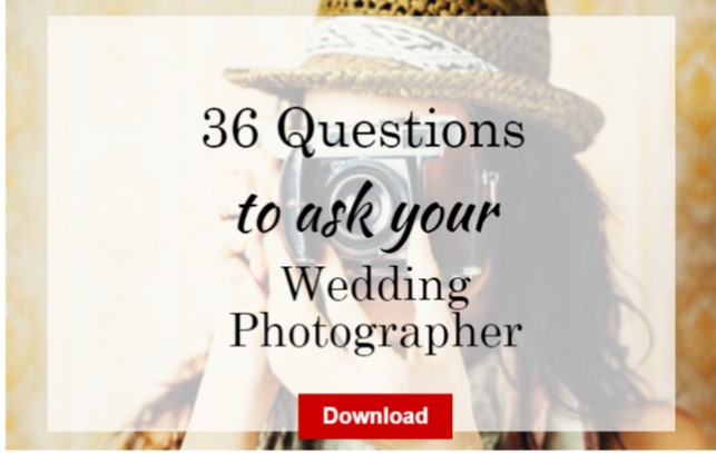 36 Questions to ask your wedding  photographer
